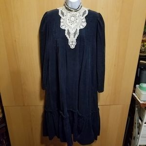 Gunne Sax Fine Ribbed Corduroy Dress